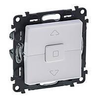 Выключатель 6А 250В кнопочный для жалюзи (автоматические клеммы) Legrand Valena Life Белый (752430)