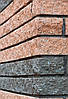 Фасадный камень угловой 185х35х60 вишня, фото 2
