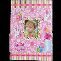 Детский фотоальбом для девочки на 300 фотографий, розовый