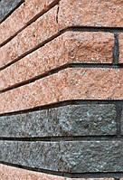 Фасадный камень угловой 225х50х65 вишня