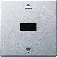 Выключатель кнопочный для жалюзи с ИК-приемником и датчиком Merten Алюминий (MTN586460)