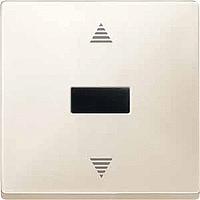 Выключатель кнопочный для жалюзи с ИК-приемником и датчиком Merten Бежевый (MTN584444)