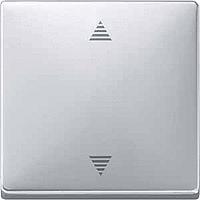 Выключатель кнопочный для жалюзи с памятью и датчиком Merten Алюминий (MTN584360)