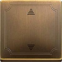 Выключатель кнопочный для жалюзи с памятью и датчиком Merten Латунь (MTN584343)