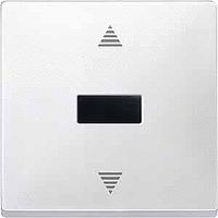 Выключатель кнопочный для жалюзи с ИК-приемником и датчиком Merten Белый (MTN584419)