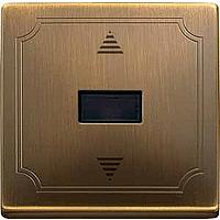 Выключатель кнопочный для жалюзи с ИК-приемником и датчиком Merten Латунь (MTN584443)