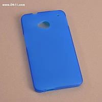 Чехол силиконовый для HTC ONE M7 (801e) blue