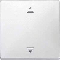 Выключатель кнопочный для жалюзи с памятью и датчиком Merten Полярно-Белый (MTN584319)