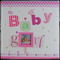 Детский фотоальбом с первых дней на 200 фотографий, Baby Girl, розовый