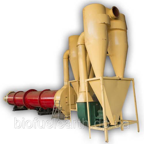 Сушилка барабанного типа для сыпучих материалов и ТБО