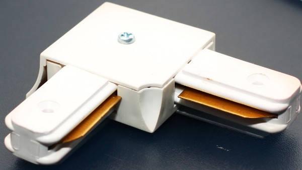 Соединитель для треков LED светильников l8-017 угловой (90*) однофазный белый Код.57752, фото 2