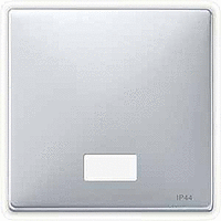Клавиша выключателя с индикатором Merten Алюминий (MTN412760)