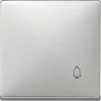 """Клавиша выключателя с маркировкой """"Звонок"""" Merten Сталь (MTN412846)"""