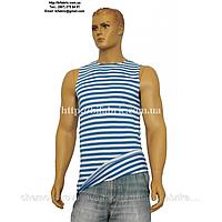 Майка мужская К-02028, полоска, вязанная, кулир, голубой, производитель Черноостровская трикотажная фабрика (B