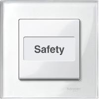 Клавиша выключателя с полем для надписи Merten Активно-Белый (MTN432319)
