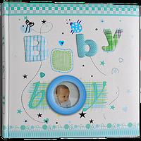 Детский фотоальбом с первых дней на 200 фотографий, Baby Boy, синий