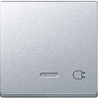 Клавиша с окном подсветки и пиктограммой Merten Алюминий (MTN431760)