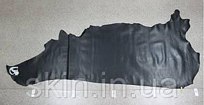 """Кожа натуральная """"Крейзи Хорс"""" для галантерейных изделий и обуви черного цвета, толщина 1.6 мм, арт. СК 1010, фото 2"""