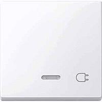 Клавиша с окошком для световой индикации и маркировкой Merten Активно-Белый (MTN435225)