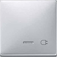 Клавиша с окошком для световой индикации и маркировкой Merten Алюминий (MTN437260)