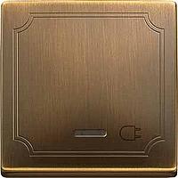 Клавиша с окошком для световой индикации и маркировкой Merten Антическая Латунь (MTN437243)