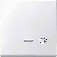 Клавиша с окошком для световой индикации и маркировкой Merten Полярно-Белый (MTN437219)
