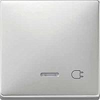 Клавиша с окошком для световой индикации и маркировкой Merten Сталь (MTN437246)