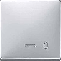 Клавиша с окошком для световой индикации и пиктограммой Merten Алюминий (MTN437860)