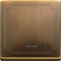Клавиша с окошком для световой индикации и пиктограммой Merten Антическая Латунь (MTN437643)