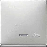 Клавиша с окошком для световой индикации и пиктограммой Merten Сталь (MTN437646)