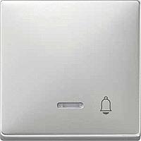 Клавиша с окошком для световой индикации и пиктограммой Merten Сталь (MTN437846)