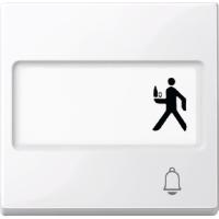 """Клавиша с полем для надписи и пиктограмма """"Звонок"""" Merten Активно-Белый (MTN3365-0325)"""