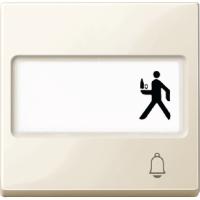 """Клавиша с полем для надписи и пиктограмма """"звонок"""" Merten Бежевый (MTN3365-0344)"""