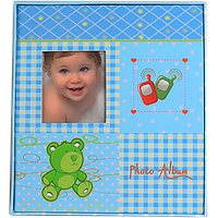 Детский альбом для фото на 80 фотографий, синий, розовый