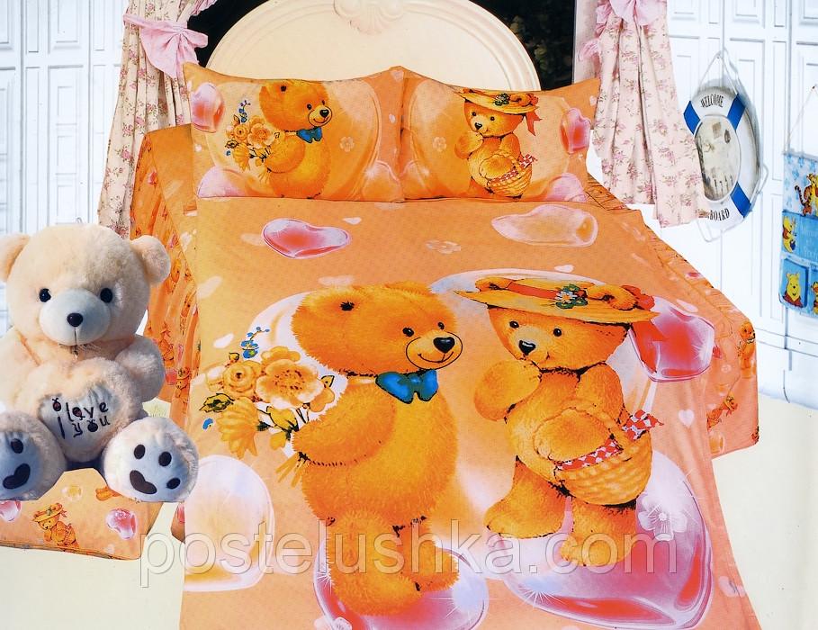 Детское постельное белье сатин  La Scala KI-071