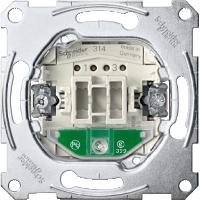 Механизм 2-полюсного 1-клавишного выключателя 16А с индикатором Merten (MTN3602-0000)