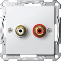 Механизм аудиорозетки Merten Полярно-Белый (MTN4350-0319)