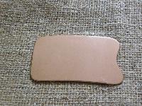 Скребок Гуаша медный прямоугольной формы классический, фото 1