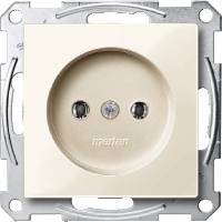 Механизм розетки без заземления 16А Merten Бежевый (MTN2001-0344)