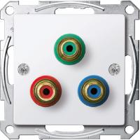 Механизм розетки компонентного видеосигнала RCA Merten Активно-Белый (MTN4353-0325)