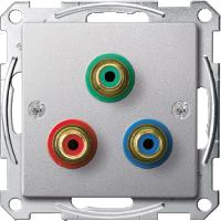 Механизм розетки компонентного видеосигнала RCA Merten Алюминий (MTN4353-0460)