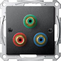 Механизм розетки компонентного видеосигнала RCA Merten Антрацит (MTN4353-0414)