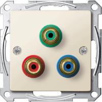 Механизм розетки компонентного видеосигнала RCA Merten Бежевый (MTN4353-0344)