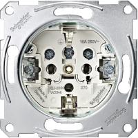 Механизм розетки с заземлением и винтами Merten (MTN2400-0000)