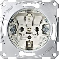 Механизм розетки с заземляющими контактами Merten (MTN2300-0000)
