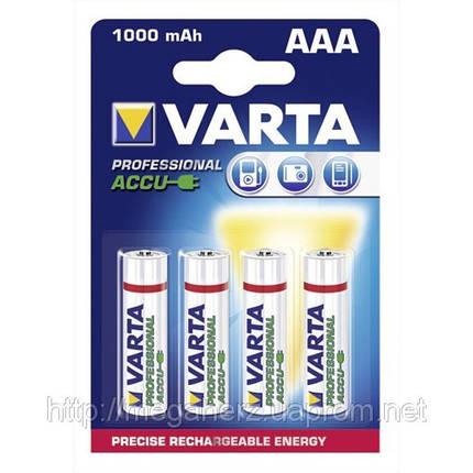 4шт аккумулятор мизинчик Varta AAA 1000 professional, фото 2