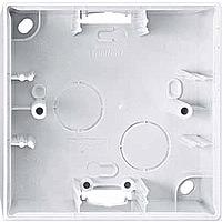 Монтажная коробка 1-постовая Merten System-M Полярно-Белый (MTN524119)