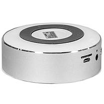 Мини-колонка BL KELING A5 серебро мощная для смартфона музыка AUX кнопки навигации металлическая Bluetooth, фото 3