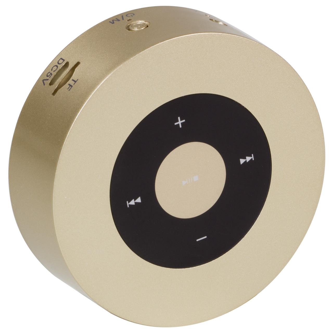 Колонка BL Keling A8 золото Bluetooth AUX кнопки навигации портативный смартфона музыка металлическая android