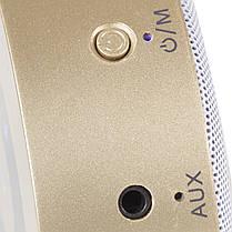 Колонка BL Keling A8 золото Bluetooth AUX кнопки навигации портативный смартфона музыка металлическая android, фото 3
